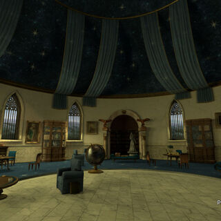 The Ravenclaw common room.