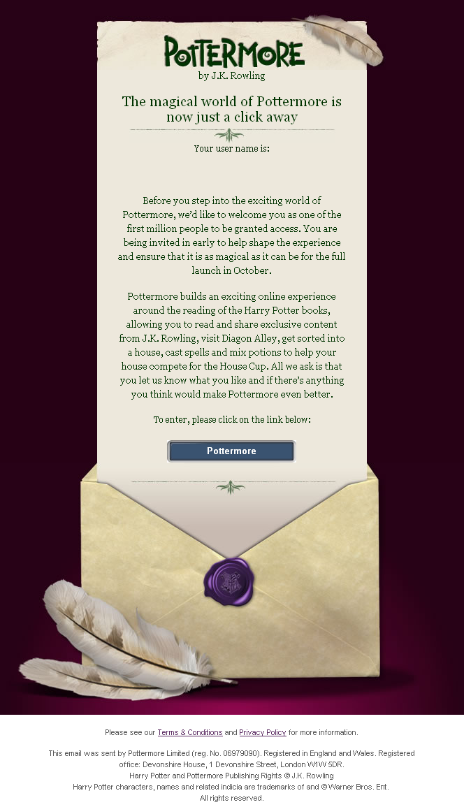 how to start playing pottermore