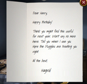 Hagrids letter