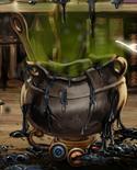 Exploded cauldron