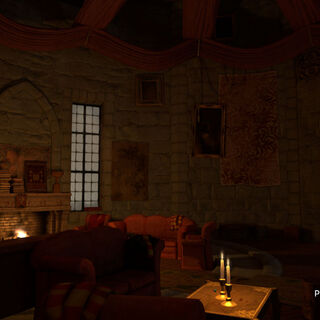 PlayStation®Home: Pottermore version of the Gryffindor common room