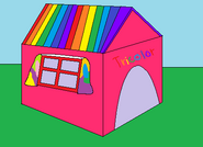 Tricolor's dog house