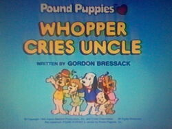 Title screen for Whopper Cries Uncle