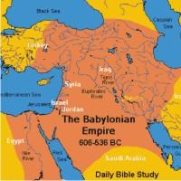 Karta babilonskog carstva u VI st pr kr