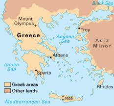 Karta stare grčke