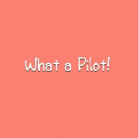 What a pilot title card