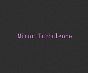 Minor turbulence title card