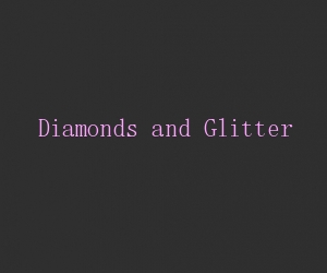 Diamonds and glitter title card