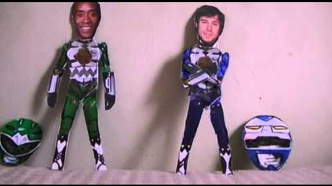 Power Rangers Lost Galaxy 2014 Fan-Film - Double Morphin Grid Case Study - Galaxy Green and Blue
