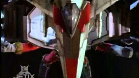 Power Rangers Lost Galaxy - Red Armored Power Ranger Transformation