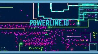 POWERLINE.IO NEW IO GAME LONGEST LINE EVER 1 PRO SNAKE VS 100 NOOB SNAKES!