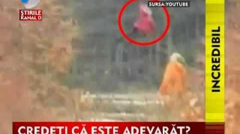 Russian girl caught on video levitating