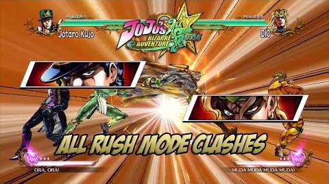 JoJo's Bizarre Adventure All Star Battle - All Rush Mode Clashes (+ Extra Voices)