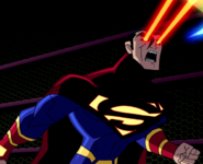 Superman X's heat vision