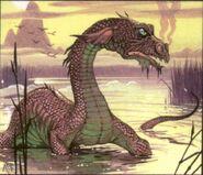 Bunyip In swamp