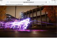 Deilson Rowe using light speed with neon