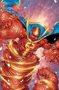 Red tornado making a tornado
