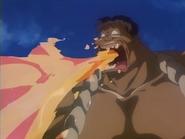 Hyottoko's Fire Breath