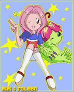 Mimi and Palmon stars