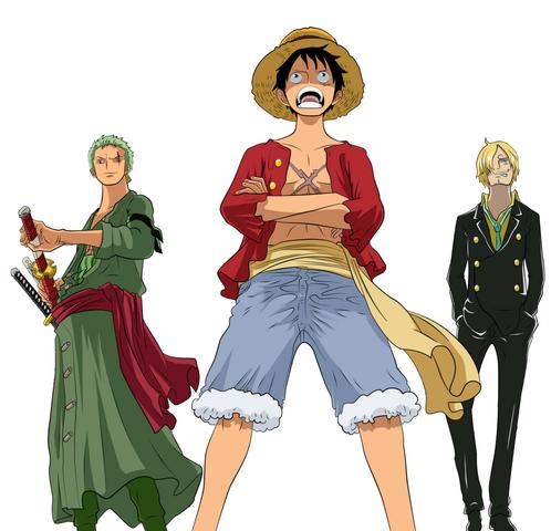 File:Luffy, Zoro, and Sanji.png