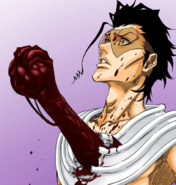 Grimmjow tears out Askin's heart