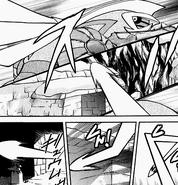 Lance's Dragonite's zigzag Hyper Beam
