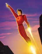 Red and Yellow Superhero