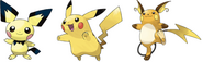 Pichu-Pikachu-Raichu