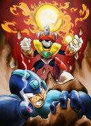 Megaman vs Solar Man