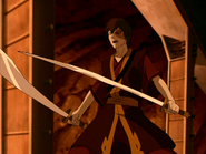Zuko with his swords