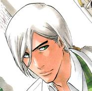 Ukitake green eyes