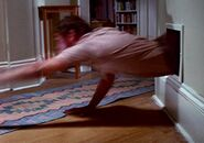Eugene Victor Tooms dives through air vent