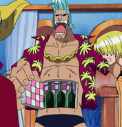 Franky Showing Fridge