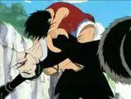 Luffy defeats Kuro