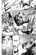Goblin Slayer throws a javelin