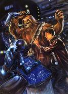 Chewie pulls droid arm off (Star Wars)