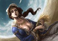 Demeter Ceres Greek Goddess Art 08 by Midori Harada-300x214
