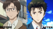 Shinichi Izumi Anime Before After