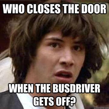 Door for the bus driver!