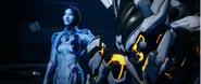 Cortana and Warden Eternal Halo 5 Guardians