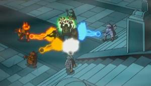 Mystic Foot Ninja Energy Beams