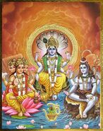 Trinity brahma vishnu and shiva amrita