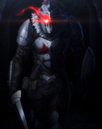 Goblin Slayer glowing red eye