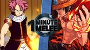 One Minute Melee S3 EP3 - Natsu vs Ace (Fairy Tail vs One Piece)