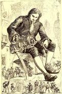 Lilliputians Examining the Man