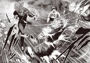 Garou using Whirlwind Iron Cutting Fist