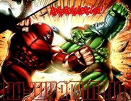 Strength Combat by Hulk and Juggernaut