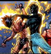 Joshua Foley Elixir (Earth-616) and Laura Kinney (Earth-616) from New X-Men Vol 2 31 0001