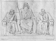 Minos, Aeacus and Rhadamanthys by Ludwig Mack, Bildhauer