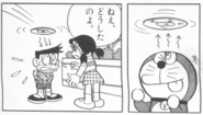 Doraemon implanting fake memory into Suneo